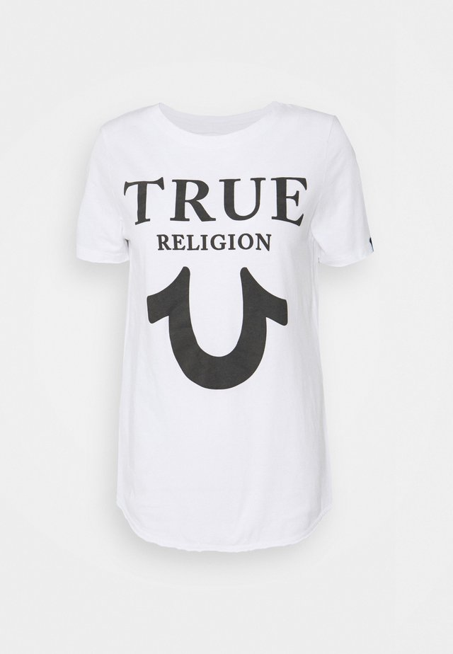 CREW TRUE LOGO - T-shirt con stampa - white