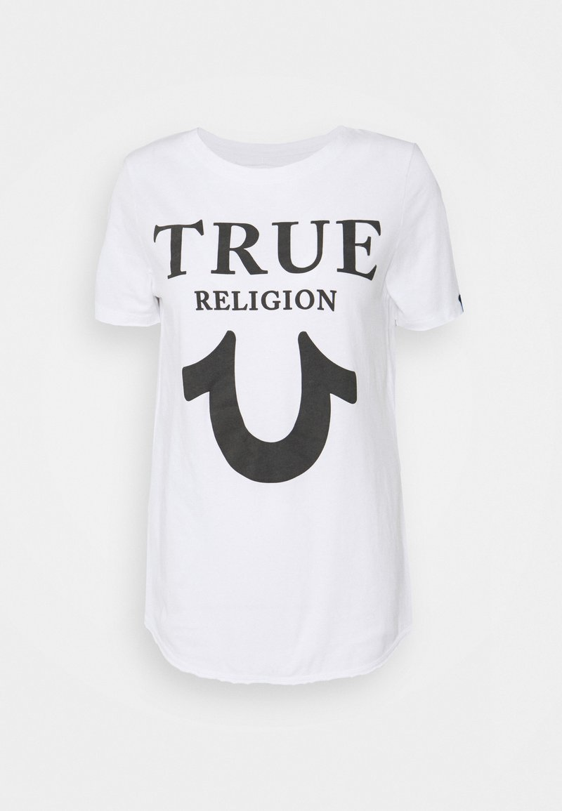 True Religion - CREW TRUE LOGO - Print T-shirt - white