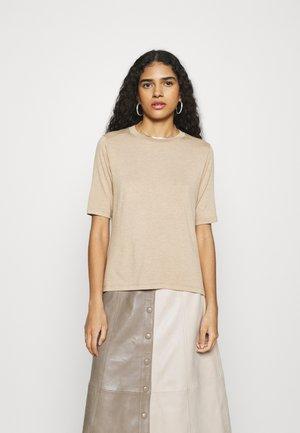 SIGNATURE ELBOW SLEEVE - Basic T-shirt - cool beige