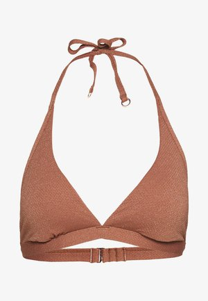 STARDUSTHALTER BRA - Bikini top - bronze
