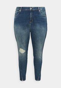 Calvin Klein Jeans Plus - HIGH RISE SKINNY ANKLE - Skinny džíny - 1a4 - 4