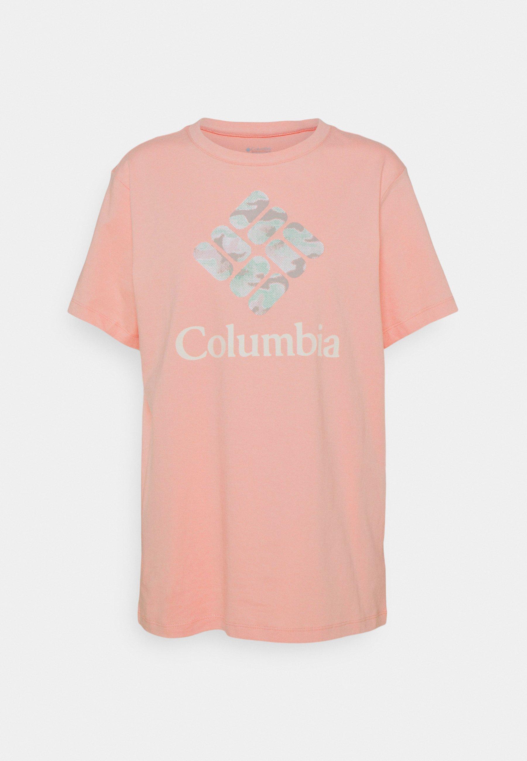 Women PARK™ RELAXED TEE - Print T-shirt - faux pink/aqua tone