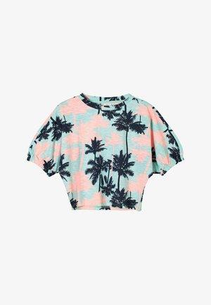 Print T-shirt - aqua aop