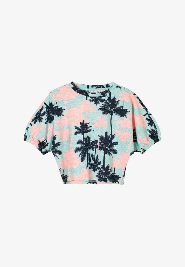 T-shirt print - aqua aop