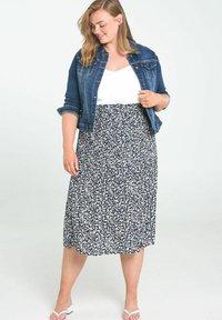 Paprika - A-line skirt - marine - 1