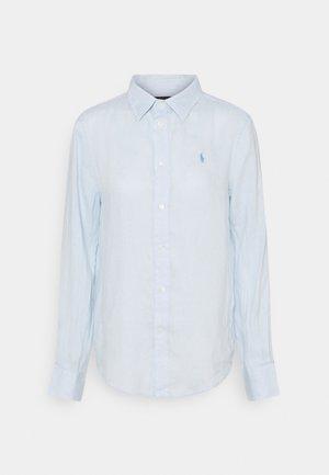PIECE DYE - Button-down blouse - beryl blue