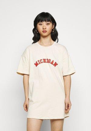 MICHIGAN OVERSIZED DRESS - Jerseyjurk - beige