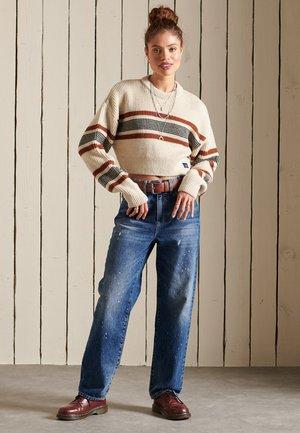Pullover - ecru stripe