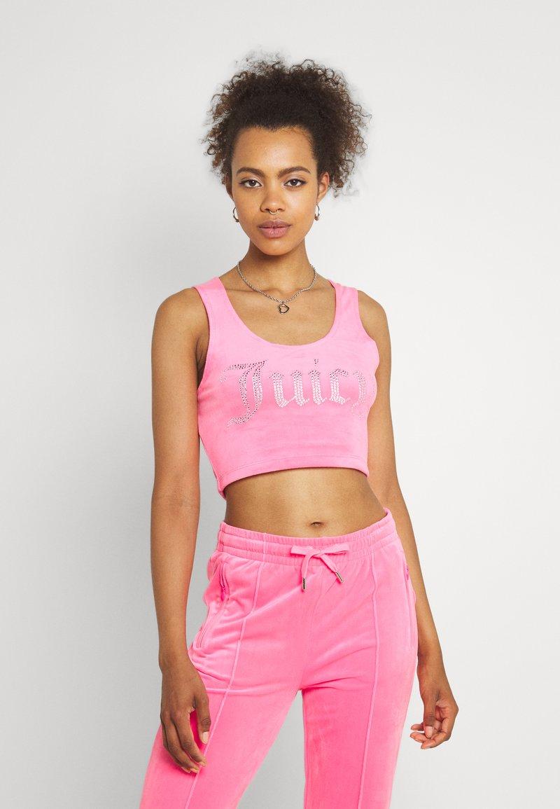 Juicy Couture - JADE CROP - Top - fluro pink