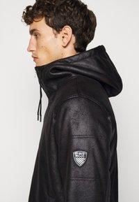 EA7 Emporio Armani - GIUBBOTTO - Leather jacket - black - 3