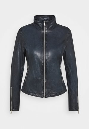KLARA - Leather jacket - navy