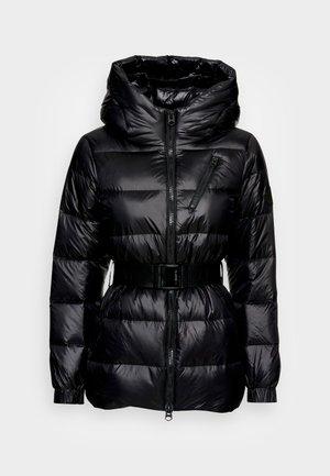 BELTED DOWN JACKET - Down jacket - black