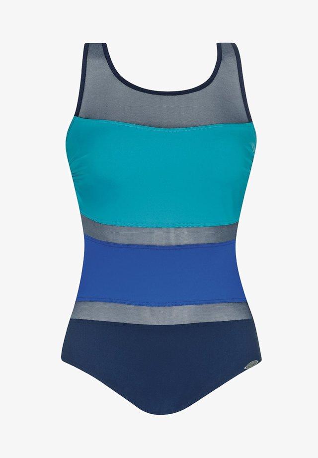 MODERN CUBES - Swimsuit - blue