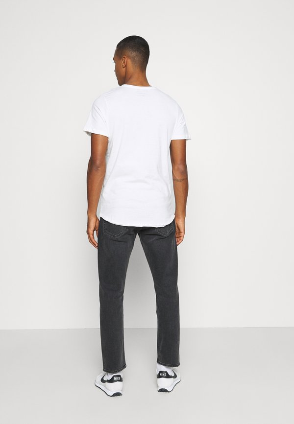 Jack & Jones JORFALL TEE CREW NECK - T-shirt z nadrukiem - cloud dancer/biały Odzież Męska JFED