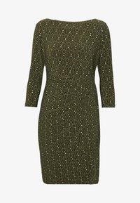 VICTORINA DAY DRESS - Denní šaty - oliva/gold/multi