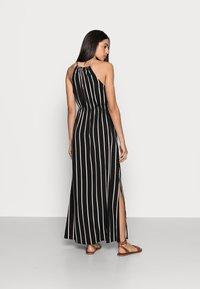 TOM TAILOR DENIM - Maxi dress - black/beige - 2