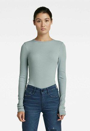 SLIM RIB - Long sleeved top - synthetic blue