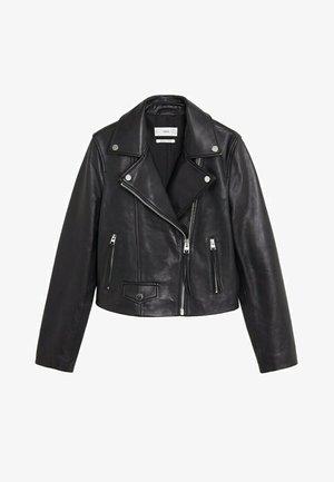 SIBILA6 - Leather jacket - schwarz