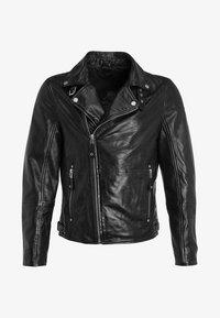 UNISEX MAVRIC  - Kožená bunda - schwarz