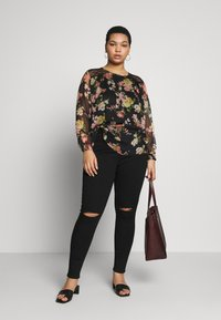 Dorothy Perkins Curve - WASHED ALEX - Jeans Skinny Fit - black - 1