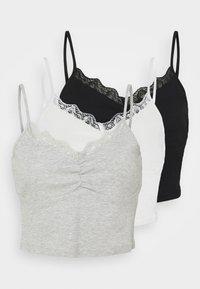 Even&Odd - 3 PACK - Top - black/white/light grey - 5