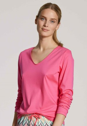 V-NECK - Long sleeved top - pink lemonade