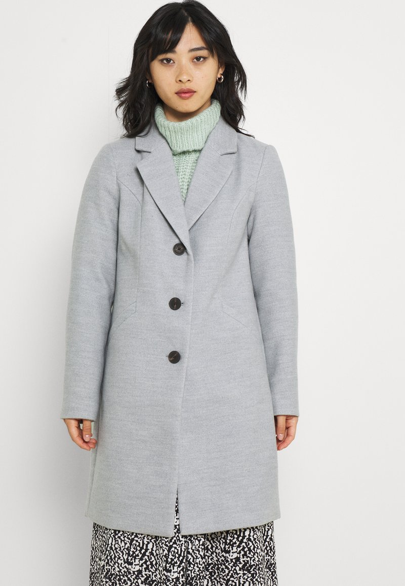 Vero Moda Petite - VMCALACINDY JACKET - Klasický kabát - light grey melange
