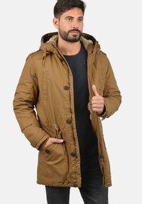Solid - WINTERJACKE CLARKI TEDDY - Winter coat - light brown - 2