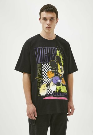 MICKEY MOUSE  - Print T-shirt - black