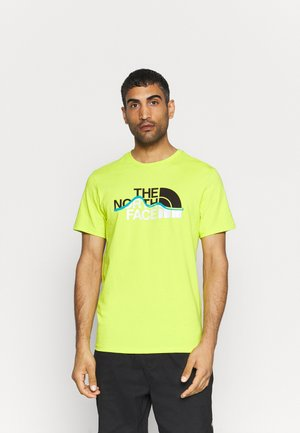 MOUNTAIN LINE TEE - Print T-shirt - light green