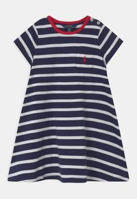 Polo Ralph Lauren - SWING  - Žerzejové šaty - french navy/white - 0