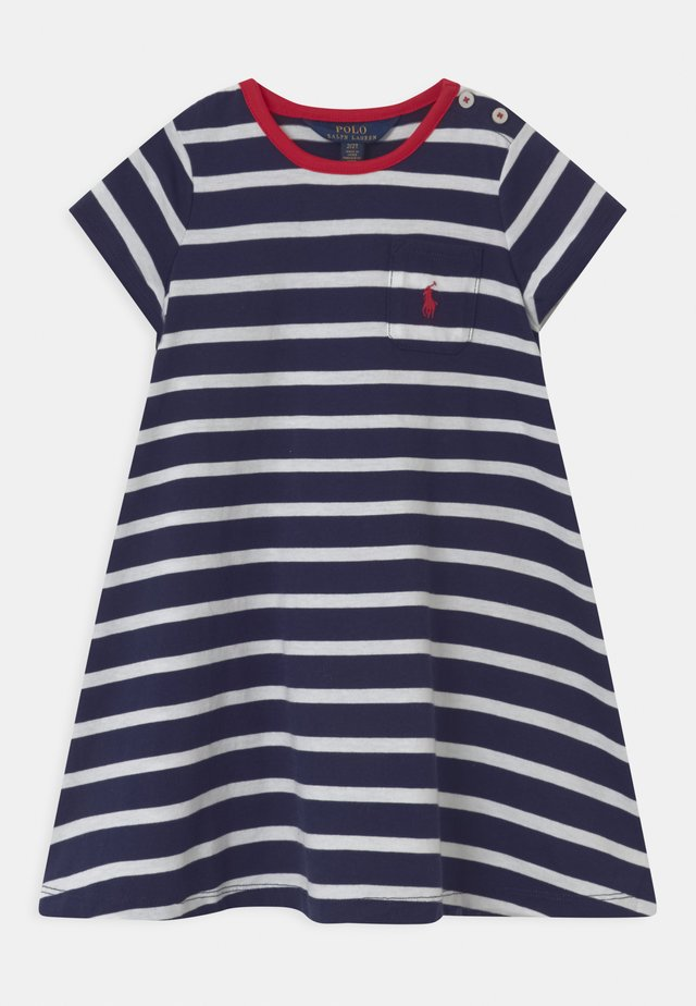 SWING  - Jerseykleid - french navy/white