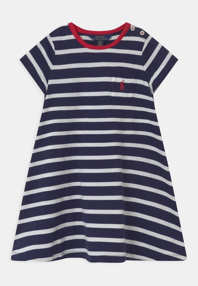 Polo Ralph Lauren - SWING  - Žerzejové šaty - french navy/white