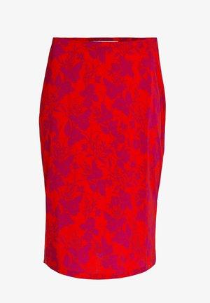 Pencil skirt - red violett