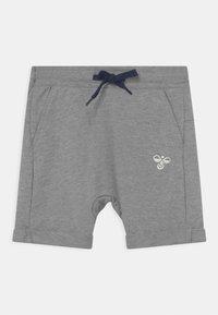 Hummel - FLICKER UNISEX - Sports shorts - grey melange - 0