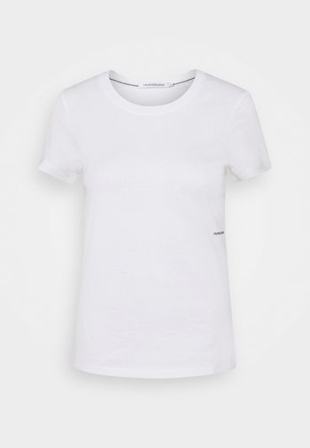 MICRO BRANDING OFF PLACED TEE - T-shirts - bright white