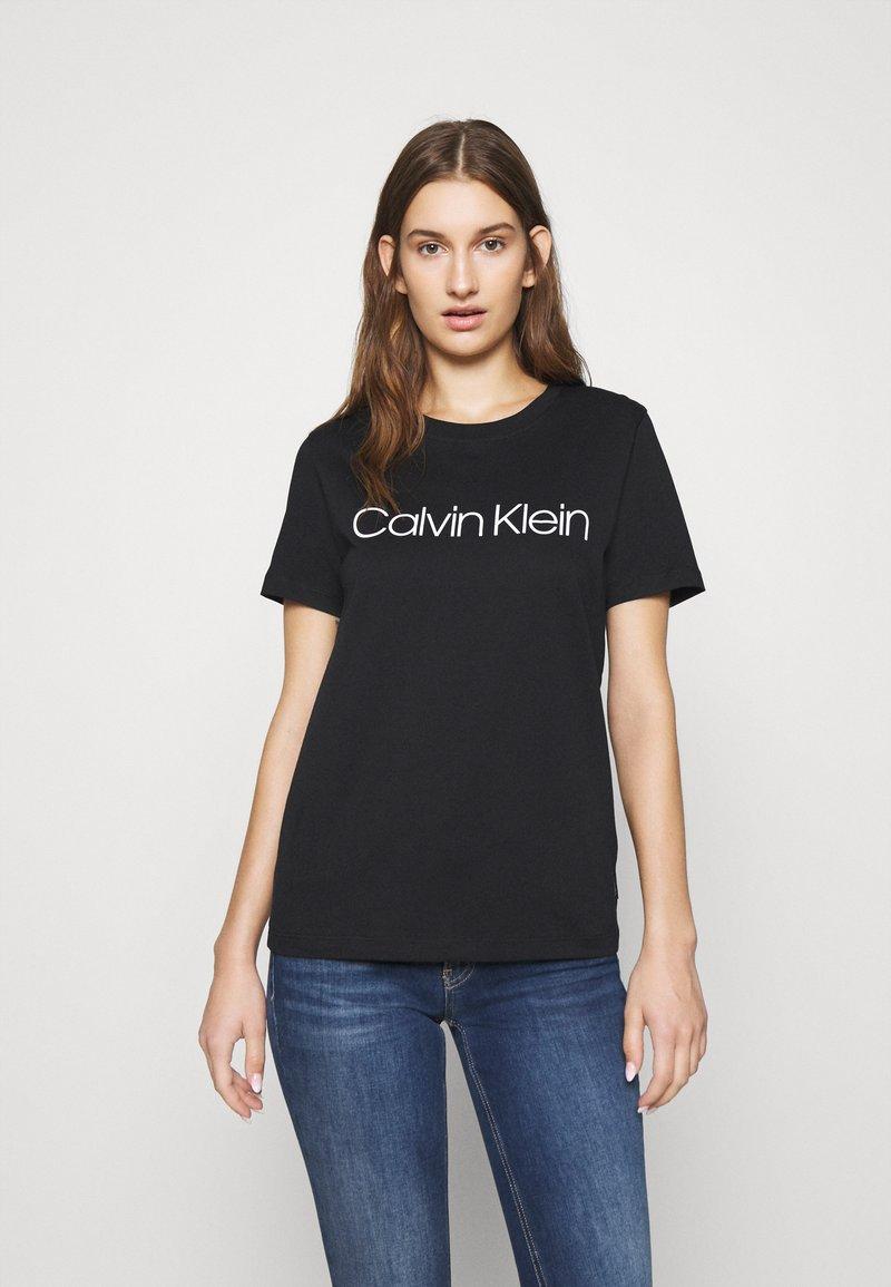 Calvin Klein - CORE LOGO - Triko spotiskem - black