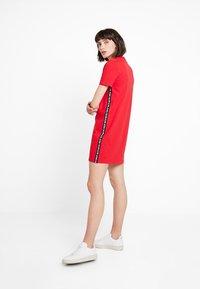 Calvin Klein Jeans - TAPE LOGO DRESS - Jersey dress - barbados cherry - 1