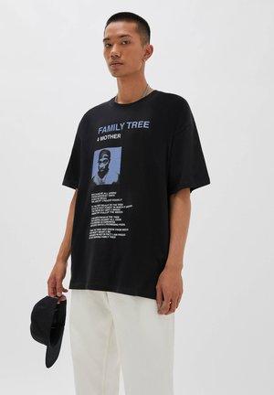 FAMILY TREE - Print T-shirt - black