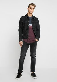 TOM TAILOR DENIM - Print T-shirt - deep burgundy red - 1