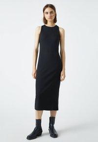 PULL&BEAR - Jumper dress - mottled black - 0