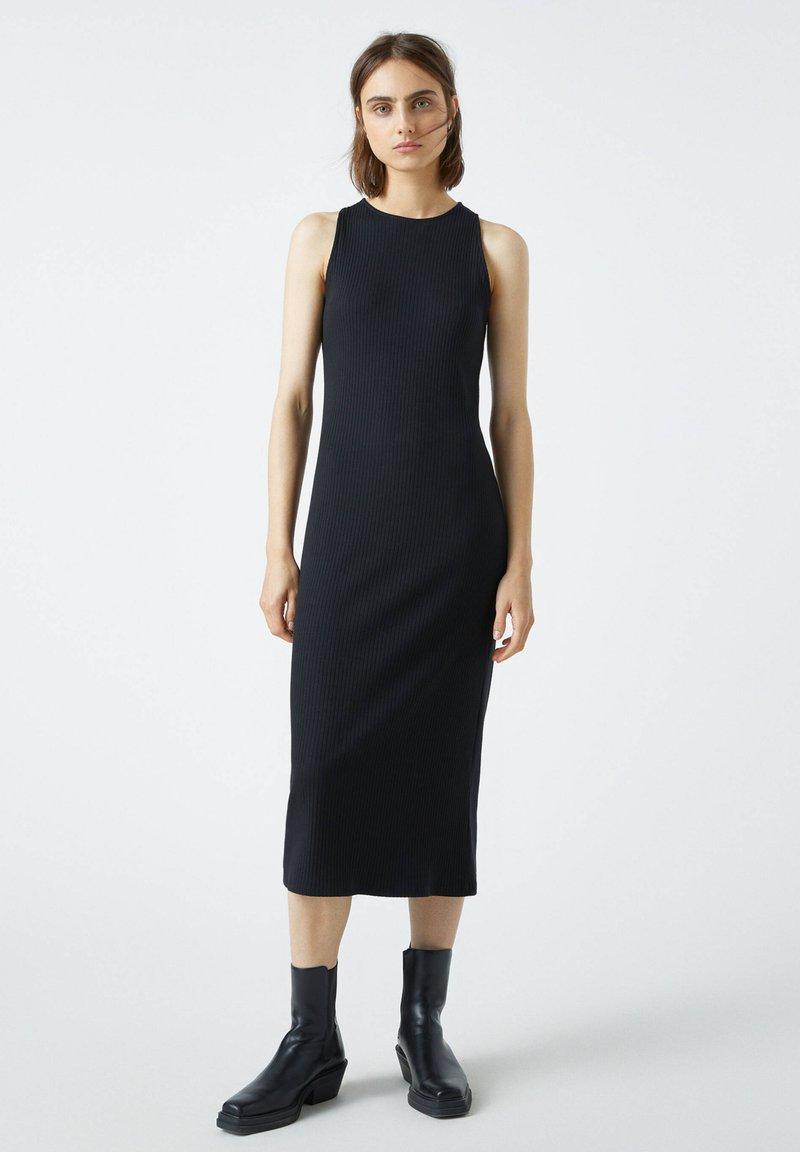 PULL&BEAR - Jumper dress - mottled black