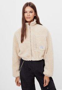 Bershka - Fleece jacket - stone - 0