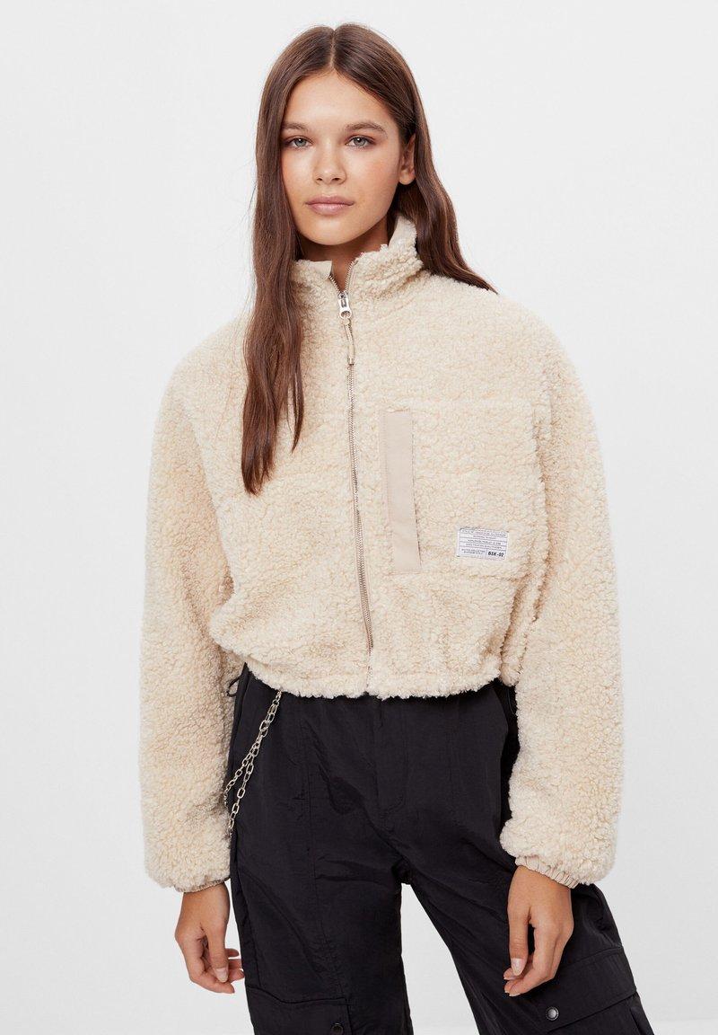 Bershka - Fleece jacket - stone
