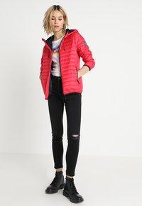 Superdry - CORE DOWN HOODED JACKET - Down jacket - raspberry - 1