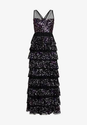 TIERED EMBELLISHED MAXI WITH CONTRAST SEQUIN - Occasion wear - black/multi