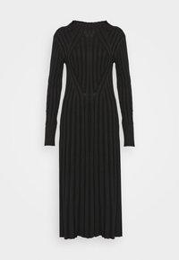 STINA - Gebreide jurk - black