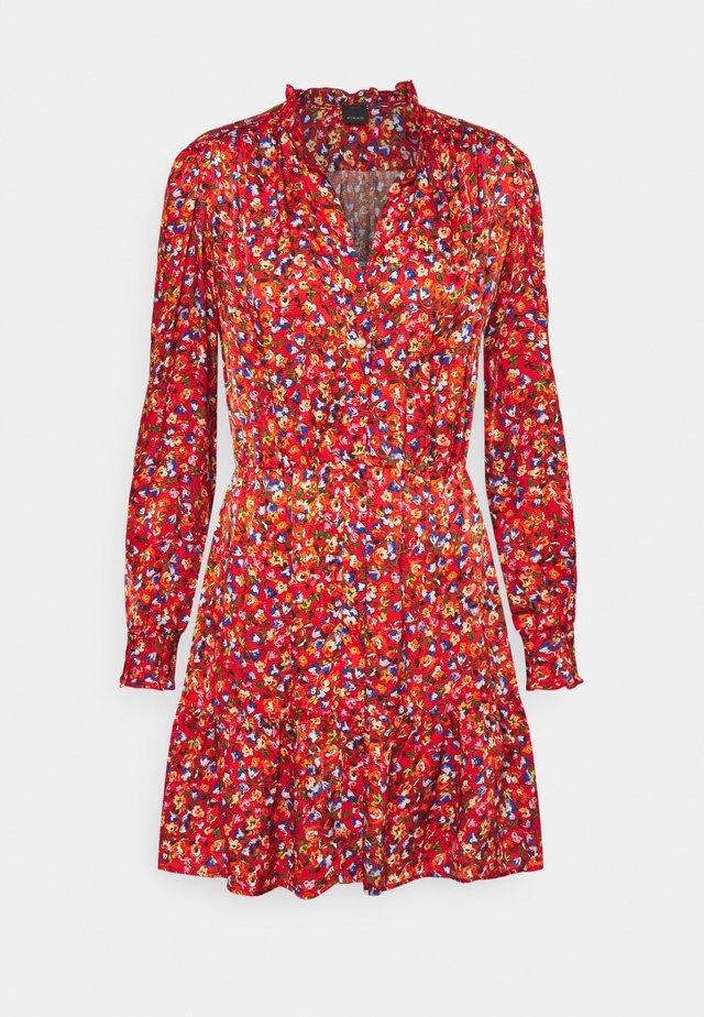 NOMADE ABITO CLOQUE FIORELLINO - Korte jurk - red