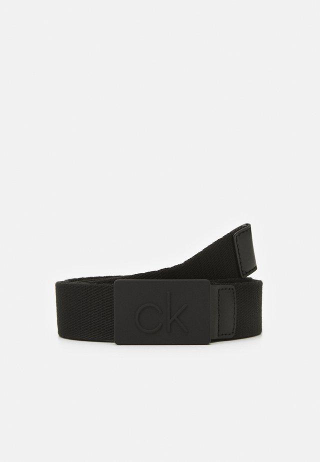 DEBOSSED PLAQUE - Belt - black