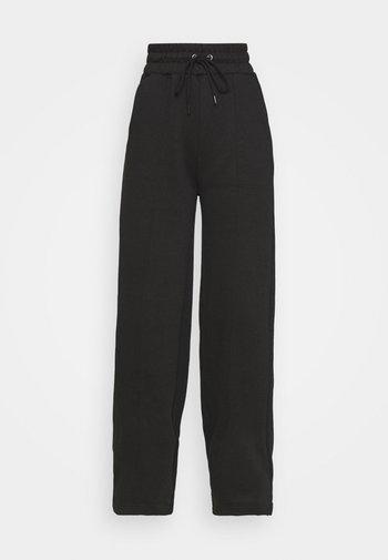 WIDE LEG SEAM DETAIL - Bukse - black
